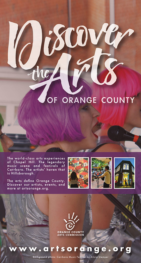 Orange County Arts Commission print ad