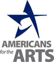 Americans for the Arts Logo - Navy blue star above sans-serif gray type