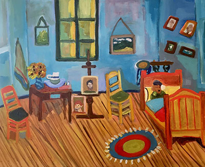 Painting by Joan VanderMeer