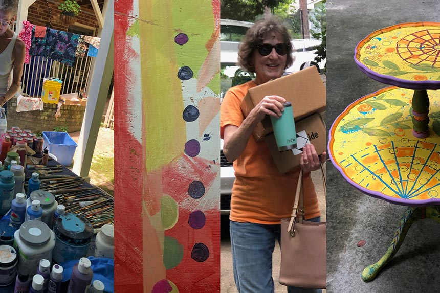 A Montage Of The 2021 Paint-a-Thon At Emily Eve Weinstein's Chapel Hill Carport